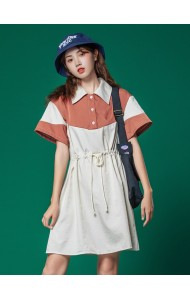 KDS06920M Young girl polo drawstring dress