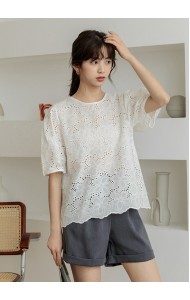 KTP068168S Hollow embroidery crochet blouse