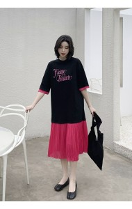 KDS065193M Pleated t shirt oversize dress