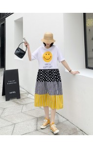 KDS068093M Smiley face oversized t shirt dress