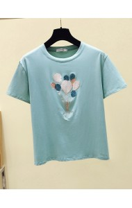 KTP062388L Embroidery sequin balloon t shirt