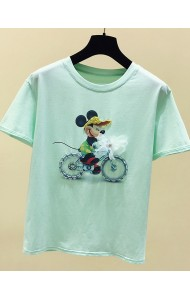 KTP069388L Mickey bike sequin t shirt