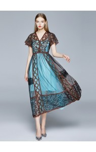 BDS075229Y Premium bohemian lace sequin dress
