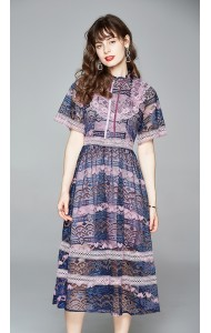 BDS074302H Purple full lace dress
