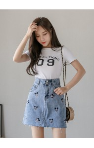 KSK07623F Embroidery mickey skirt