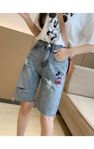 KPT07228H Embroidery mickey jeans