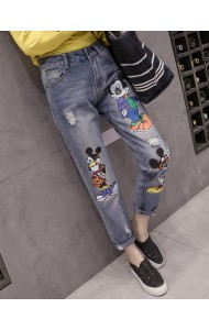 KPT072503O Plus size printed mickey jeans