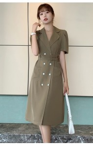 KDS071600Q Hana bared back coat dress