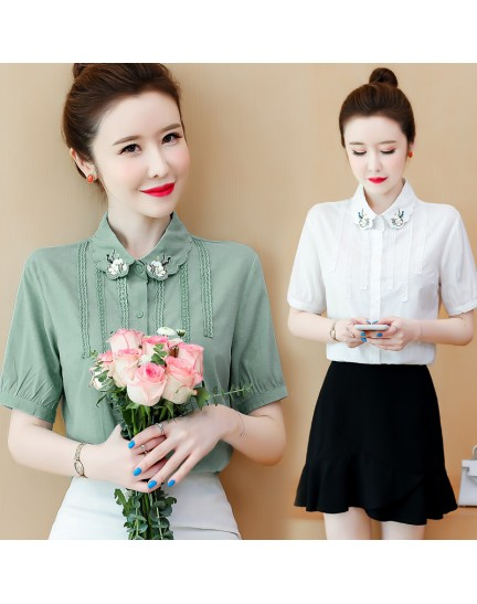 KTP072206Y Embroidery collar shirt