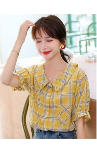 KTP08508Y Checker blouse