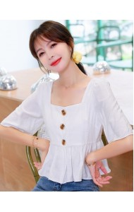 KTP080726T Square neck wawa blouse
