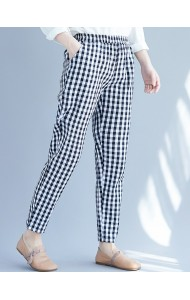 KPT089179M Checker linen pants