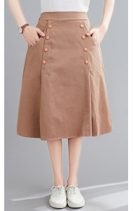 KSK081202M Linen pocket skirt