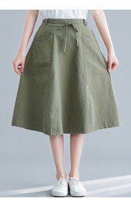 KSK083797M Linen pocket skirt