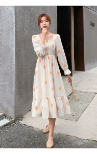 KDS080700Q Polka puff sleeves dress