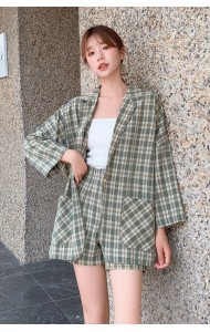 KST089600Q Hana checker 2 pcs coat set