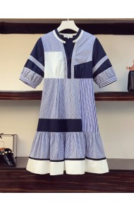 KDS080306L Plus size stripes dress