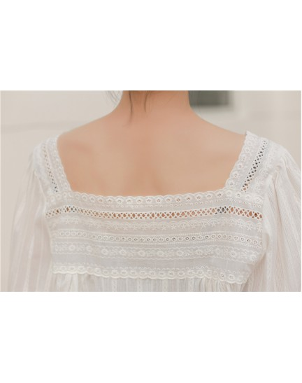KTP086459Y Embroidery lace blouse