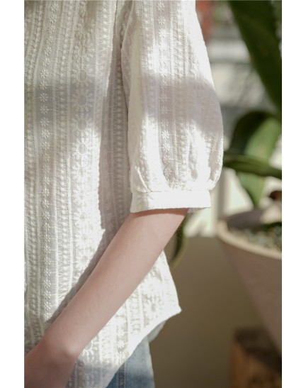 KTP084259Y Embroidery blouse