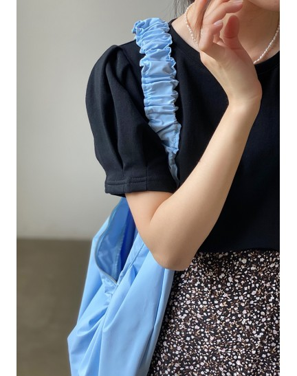 KTP0890780S Puff sleeves blouse
