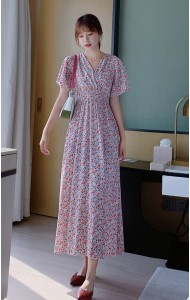 KDS096200Q Hana V neck floral dress
