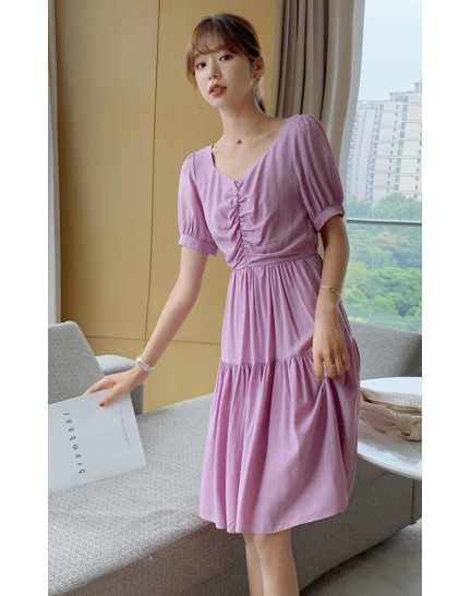 KDS098500Q Hana V neck dress