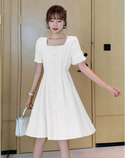 KDS095500Q Hana square neck dress
