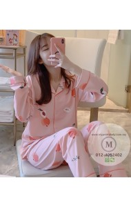 KSW09008M Peach long sleeves sleepwear