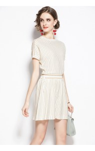 BDS102289H Knit stripes mini dress