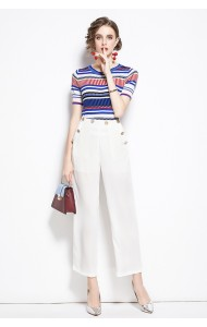 BST106289H Knit top pleated pants set