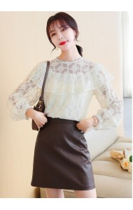 KTP112026T Full lace ruffle blouse
