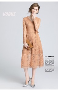 BDS110886S SALES Long sleeves lace dress