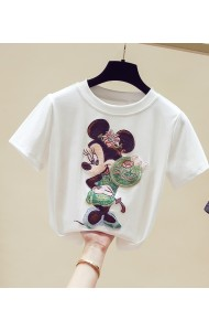 KTP11499Y SALES mickey patchwork cotton shirt