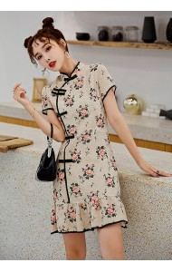 KDS116681F Embroidery floral mermaid cheongsum dress