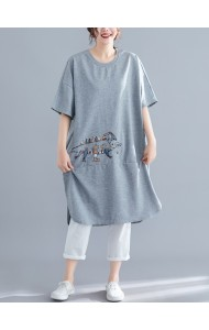 KTP112147H Plus size embroidery t shirt /dress