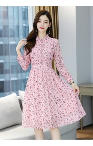 KDS120819H Chiffon pink floral dress