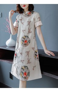 KDS121078W Jacquard cheongsum dress