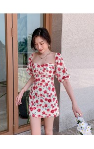 KDS11319H Off shoulder sexy floral dress