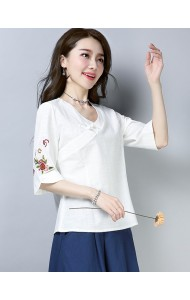 KTP125181L Embroidery linen cheongsum REAL PHOTO