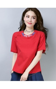 KTP126181L Embroidery linen cheongsum REAL PHOTO