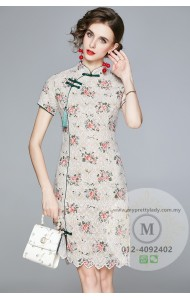 BDS123596A Premium embroidery cheongsum dress