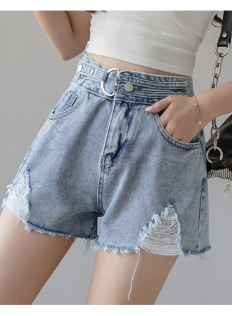 KPT015727J High waisted denim shorts