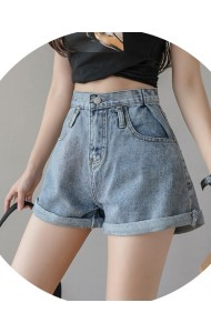 KPT0119817J Roll up denim shorts