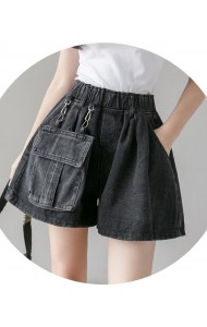 KPT016227J Elastic denim shorts with attached pocket
