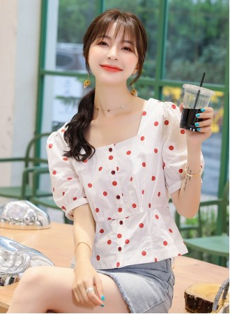 KTP031556X Polka cotton top