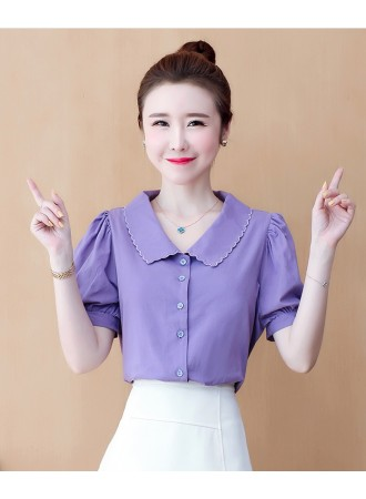 KTP032356X Purple collar top