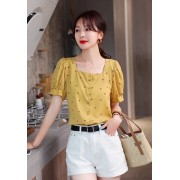 KTP032156X Yellow floral top