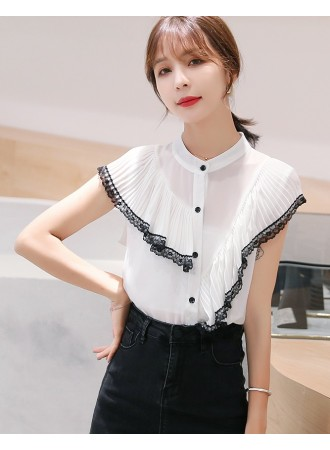 KTP031063X Chiffon pleated top