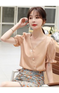 KTP052256X Puff sleeves white blouse