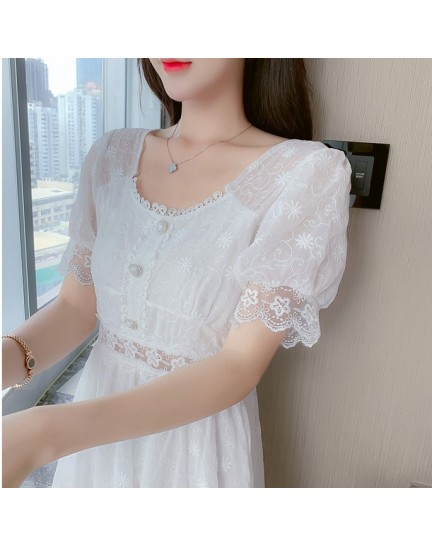 KDS039968Y Embroidery lace dress